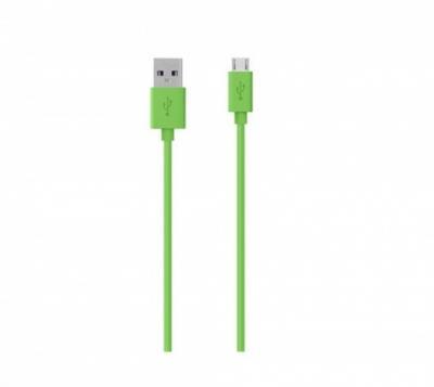 BELKIN USB 2.0 A - MicroUSB 2.0 B prepojovací MixIt kábel M/M 2m zelený