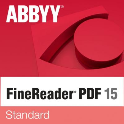 ABBYY FineReader PDF 15 Standard Single User License (ESD) GOV/NPO Perpetual
