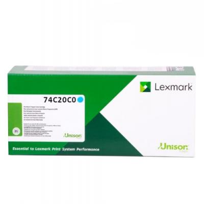 Lexmark 74C20C0 azúrový laserový toner