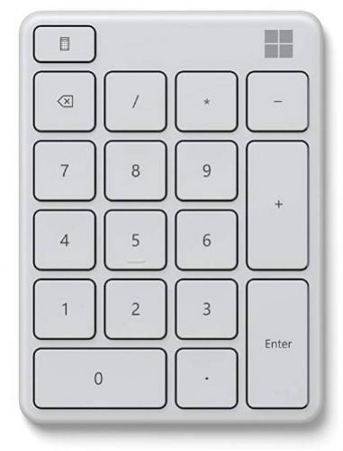 MICROSOFT Numerická bluetooth klávesnica biela